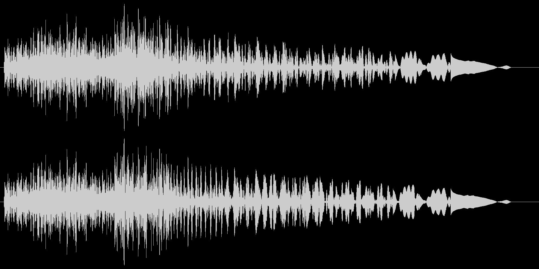 タラランタン(発見した音)の未再生の波形