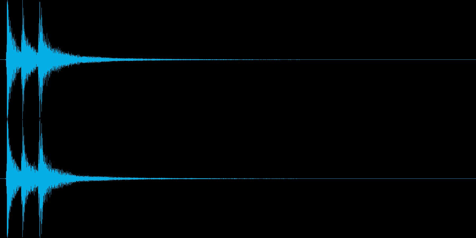 ▼生演奏 三味線ジャジャジャーンの再生済みの波形