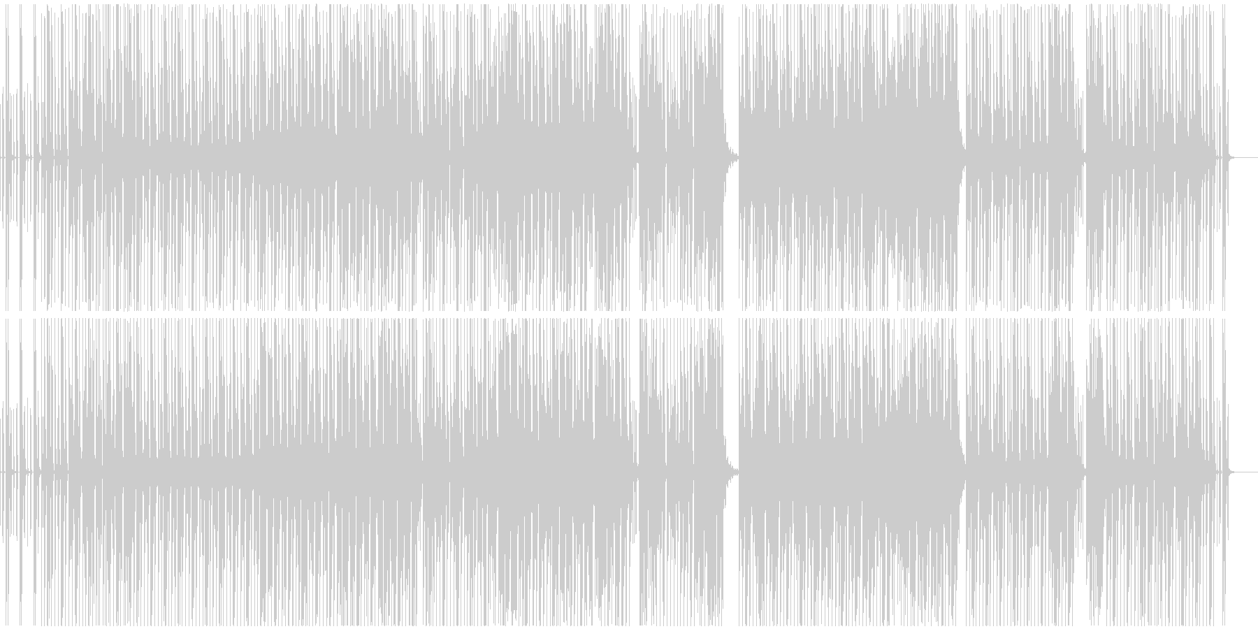 都会的ロートーンな(テック)ハウスEDMの未再生の波形