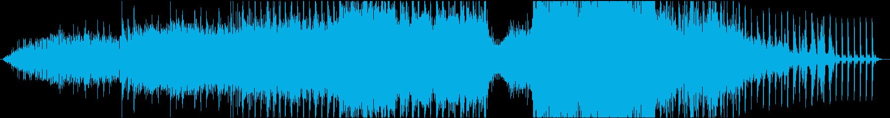 勢いと音の強弱が特徴的なメロディーの再生済みの波形