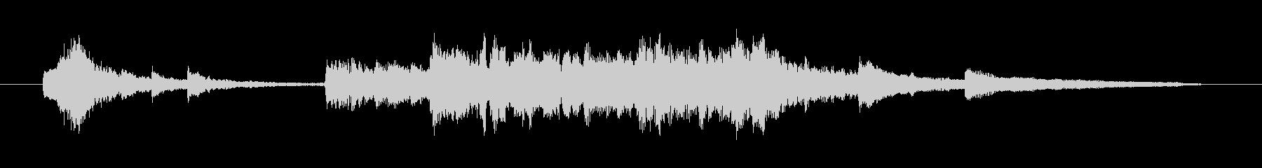 透明感のある澄んだピアノ曲<15秒>の未再生の波形