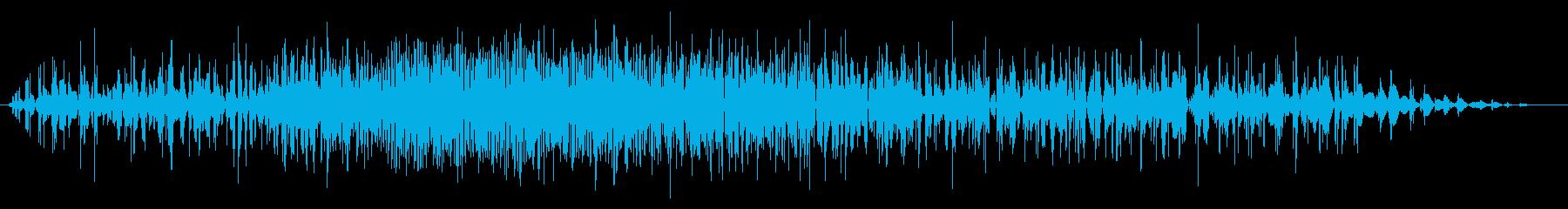 短い地鳴り・地震の再生済みの波形
