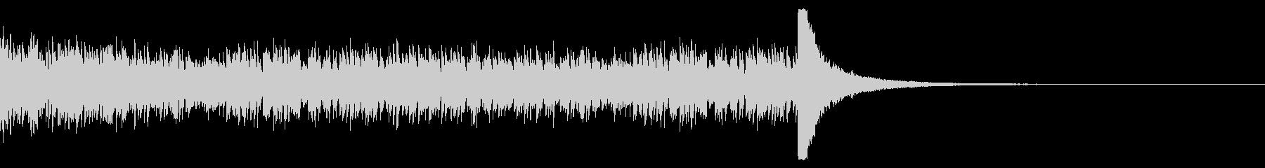 ドラムロール(22秒)の未再生の波形
