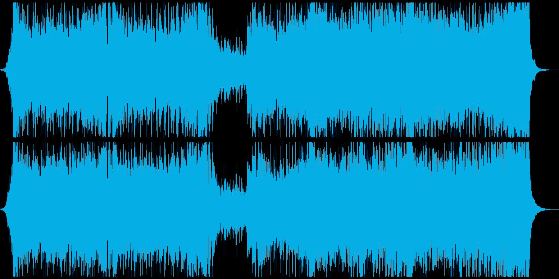 オーケストラ基調のドラマチックなポップスの再生済みの波形