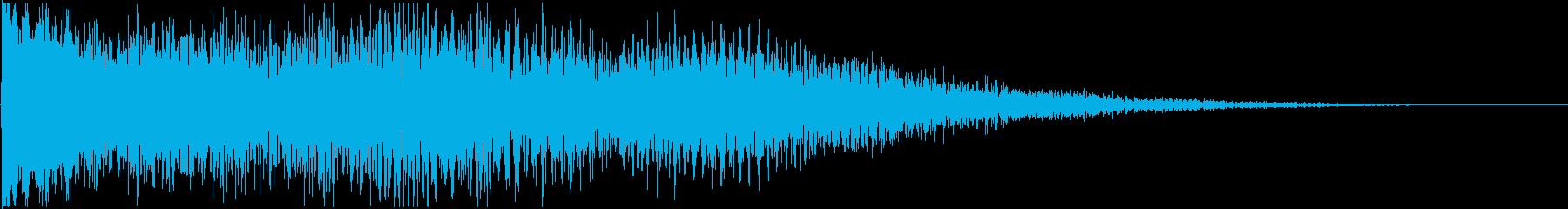 【映画】 衝撃音 ガンッ!! シュシュッの再生済みの波形