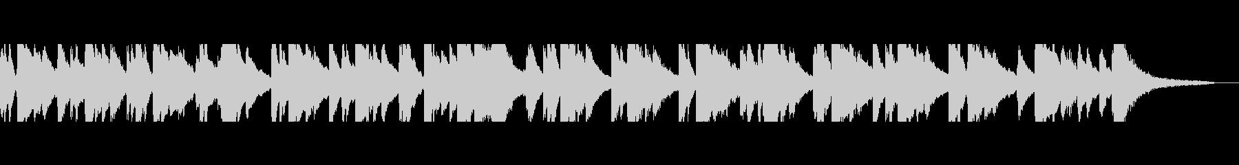 感動 癒し ピアノのアメイジンググレイスの未再生の波形