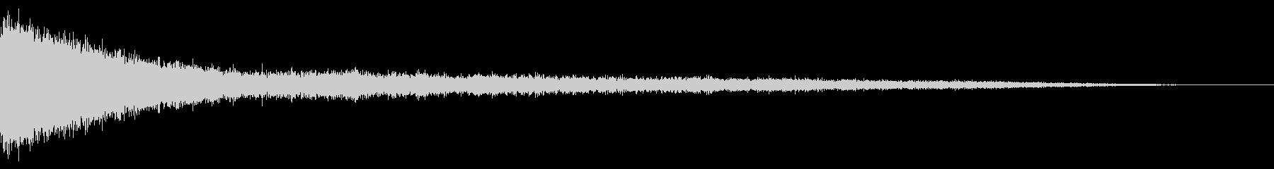 ホラー系アタック音43の未再生の波形