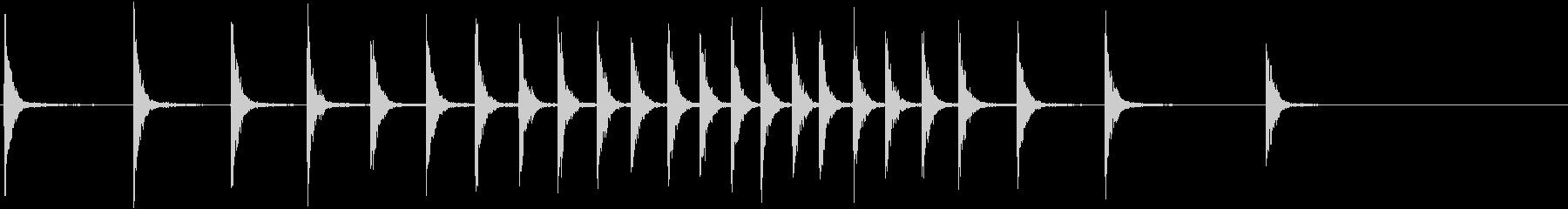 シンセ拍子木_ロール(紙芝居、呼び込み)の未再生の波形