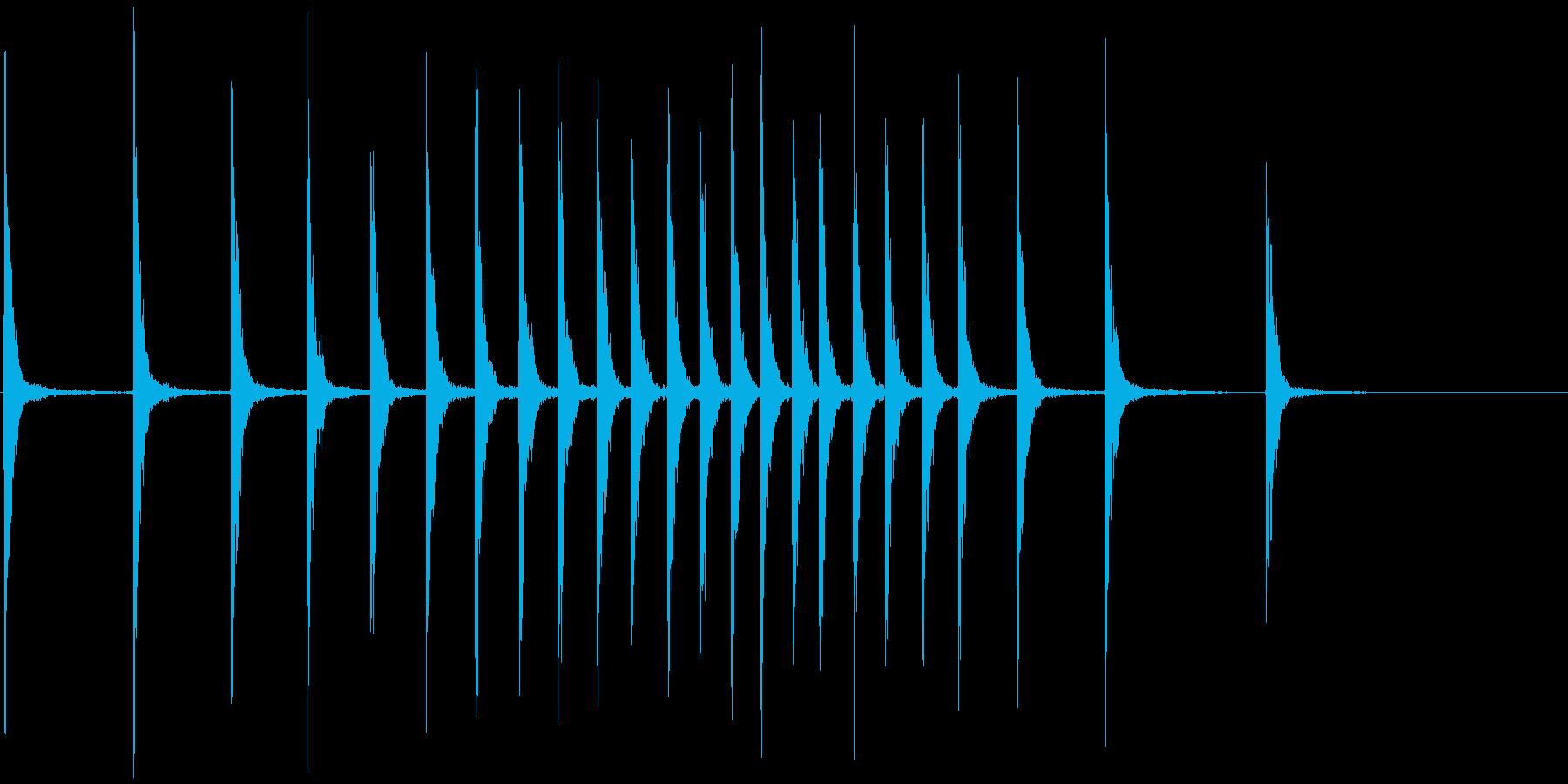シンセ拍子木_ロール(紙芝居、呼び込み)の再生済みの波形