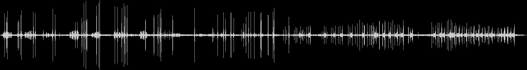 バード、ブリージングウォーブラー、...の未再生の波形