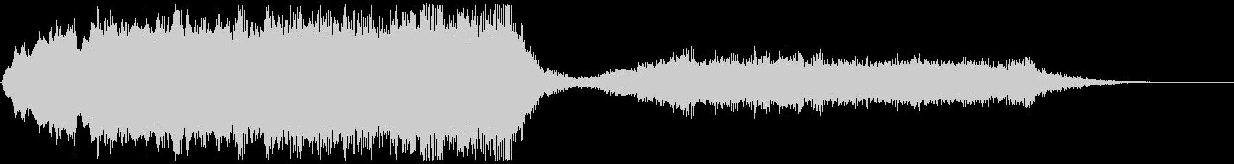 ストリングスの不協和音のジングル ホラーの未再生の波形