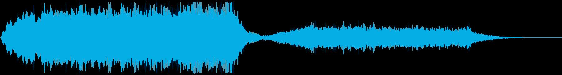 ストリングスの不協和音のジングル ホラーの再生済みの波形
