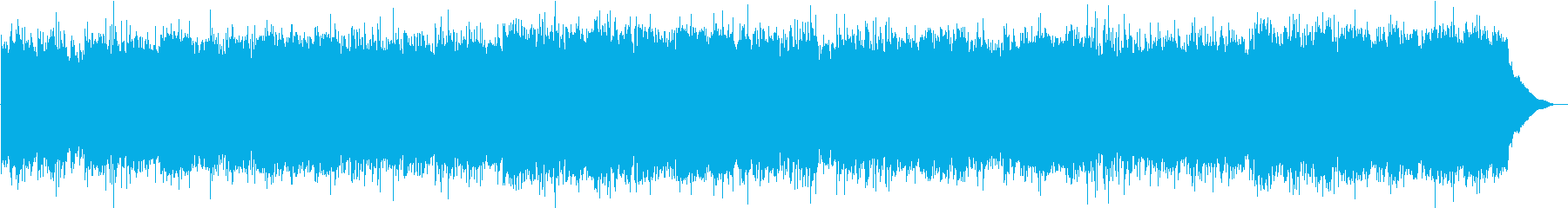 和楽器をたくさん使った重低音の曲の再生済みの波形