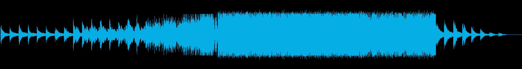 哀愁のあるドラムンベースの再生済みの波形