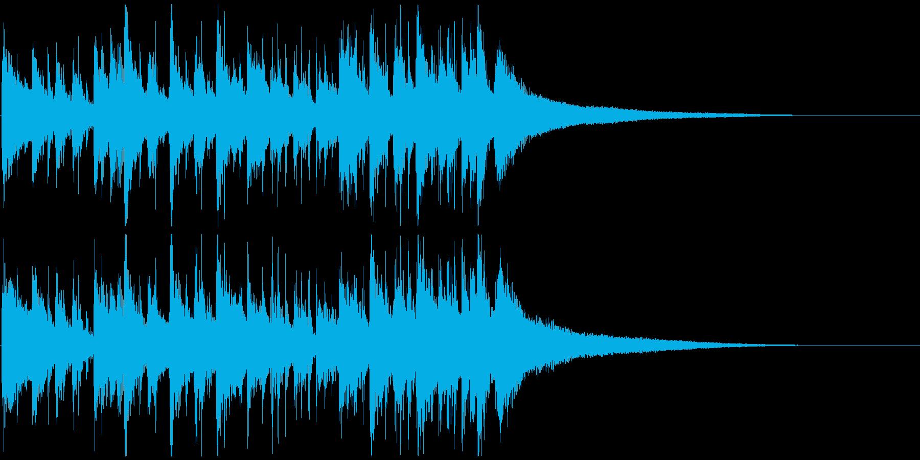 おしゃれなボサノバオープニングジングルの再生済みの波形