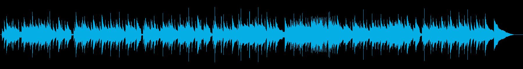 牧歌的なギター曲の再生済みの波形