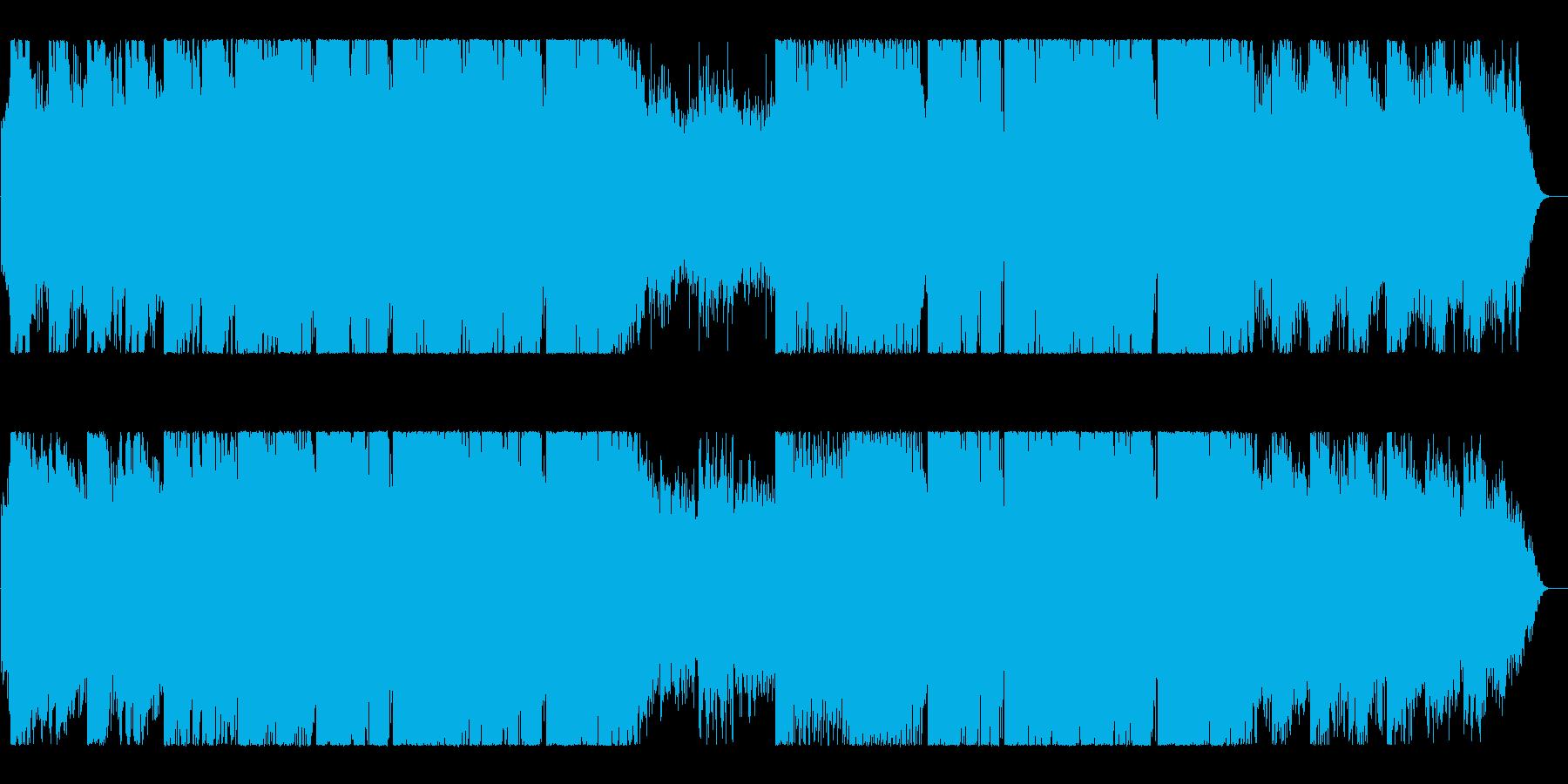 流行のドラマチックなフューチャーベースの再生済みの波形