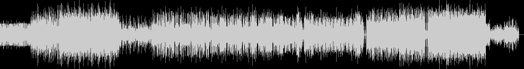 重厚なインダストリアルミュージックの未再生の波形