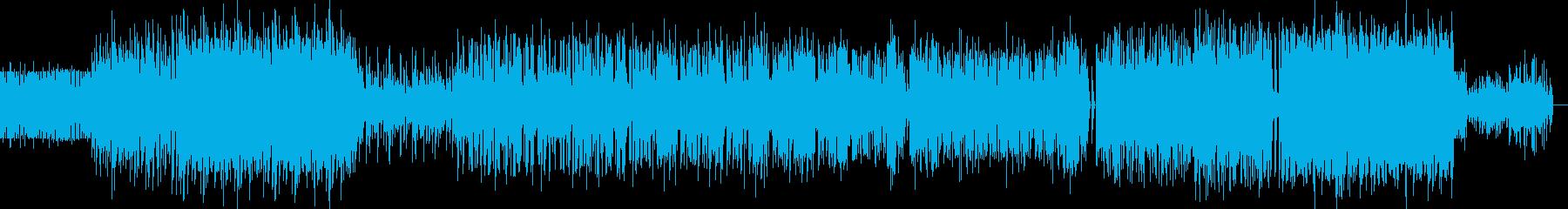 重厚なインダストリアルミュージックの再生済みの波形