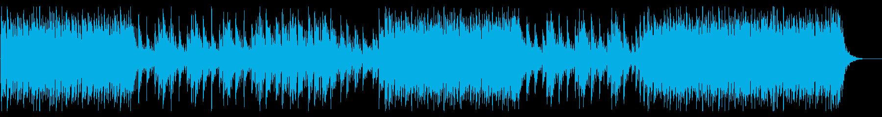 情熱的な和太鼓のアンサンブルの再生済みの波形