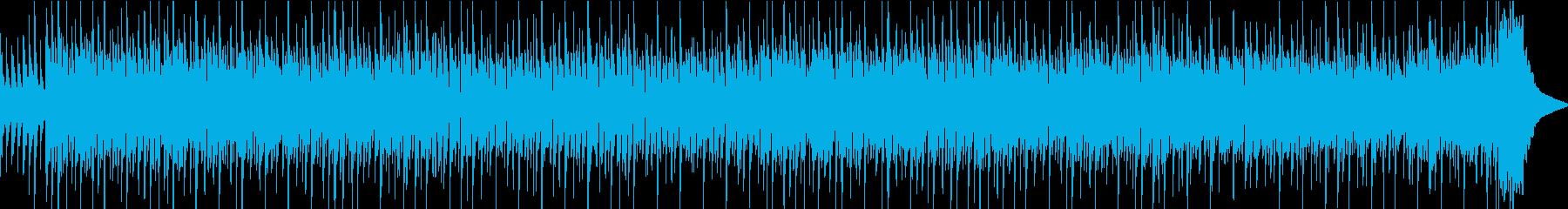 和風の三味線テクノと笛のテクノ(1分)の再生済みの波形