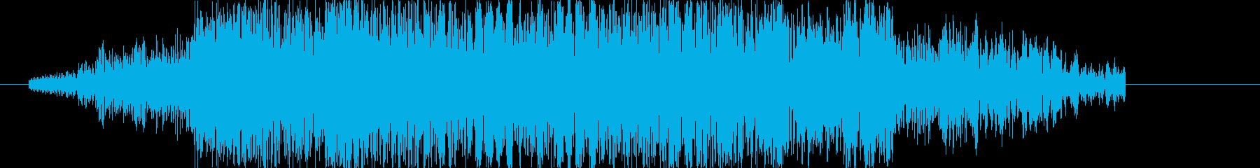 刀や剣の斬撃音 2の再生済みの波形