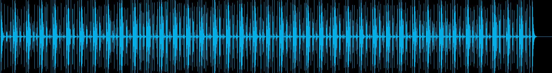 コンガの軽快なメレンゲのリズムの再生済みの波形