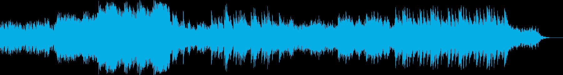 星や宇宙が題材の作品を彩るヒーリング曲の再生済みの波形