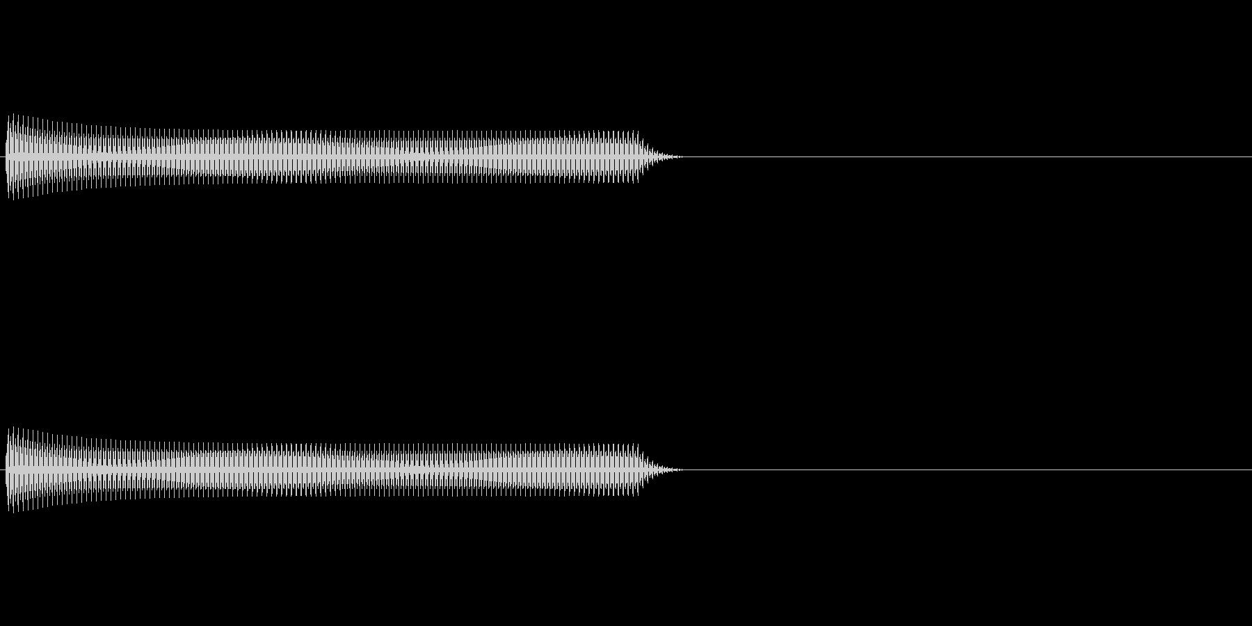 Regi リアルなレジの音 パターンAの未再生の波形