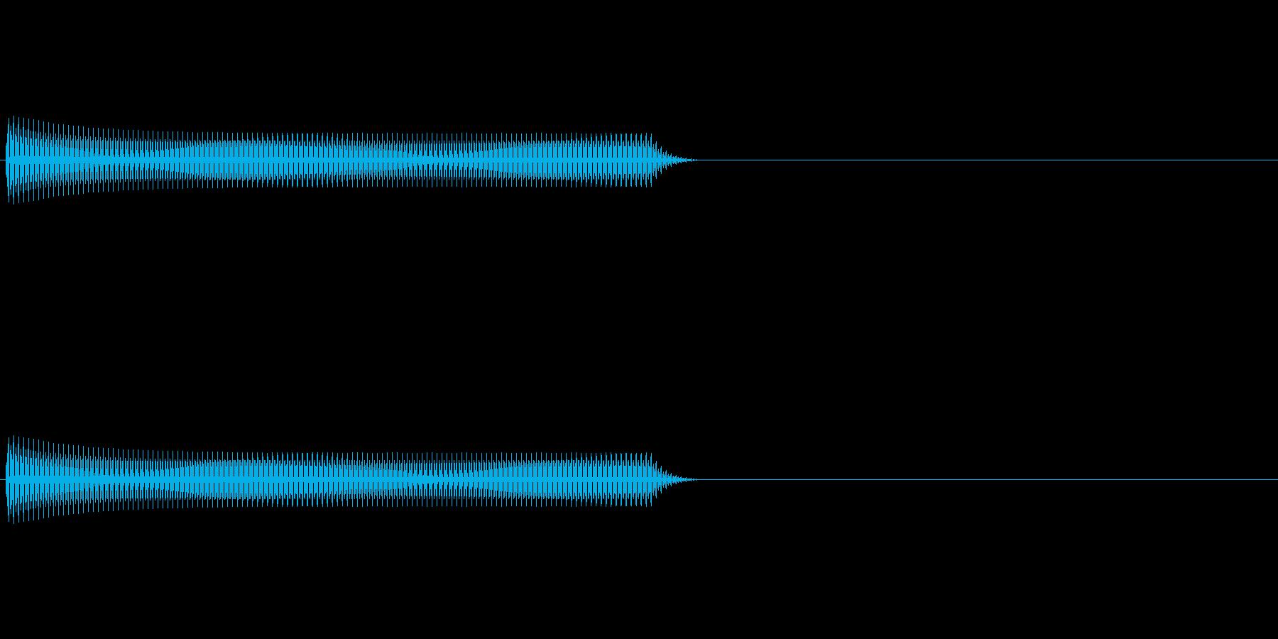 Regi リアルなレジの音 パターンAの再生済みの波形
