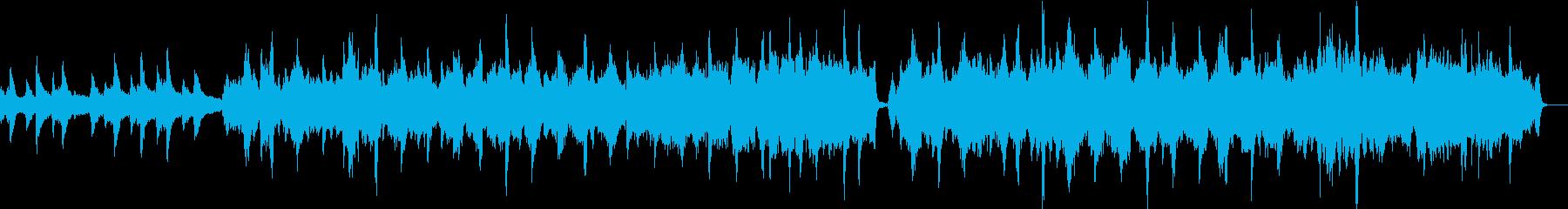 感動と別れのシーン・ピアノバイオリン劇伴の再生済みの波形
