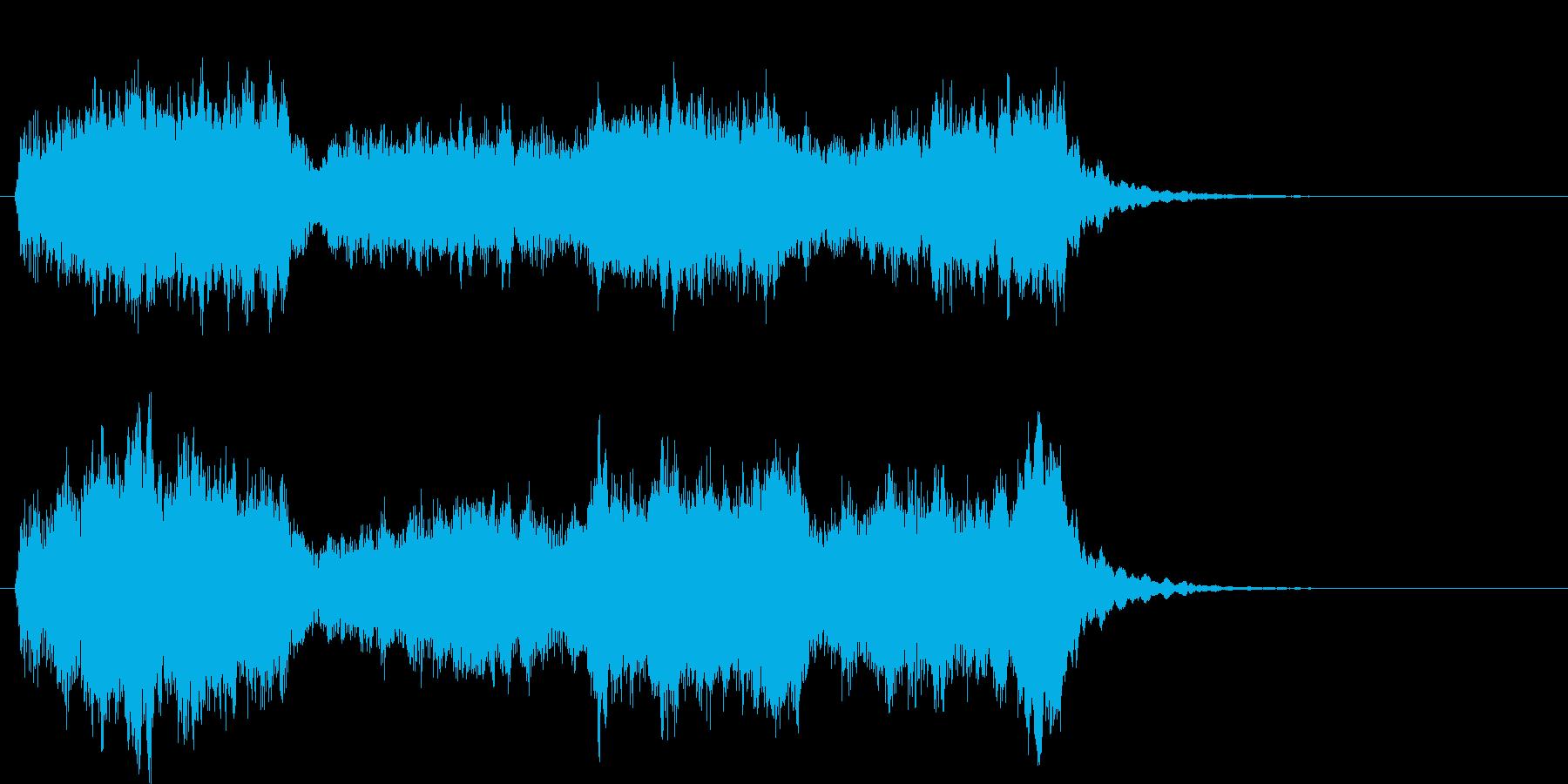 ストリングスオーケストラ調の再生済みの波形