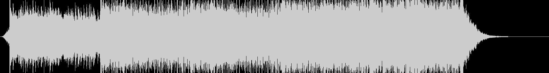 前向きなロックテイストのBGM(60秒)の未再生の波形