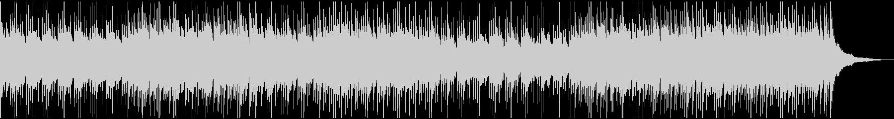 ウクレレとグロッケンの明るい楽曲ドラム無の未再生の波形