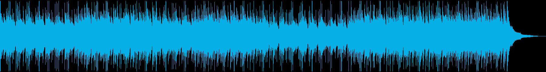 ウクレレとグロッケンの明るい楽曲ドラム無の再生済みの波形