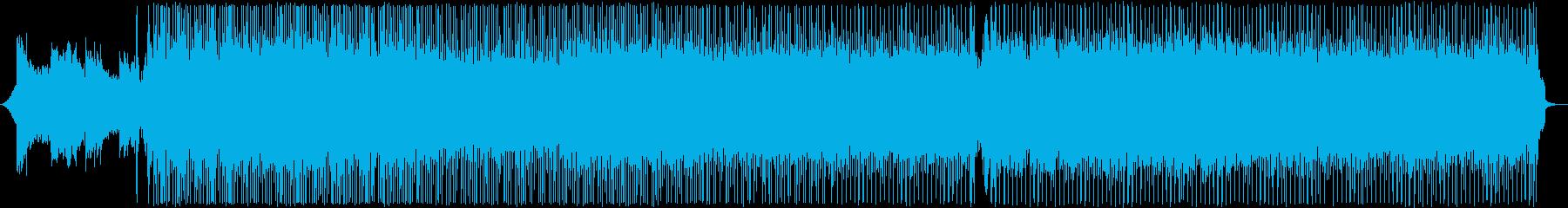 和楽器の激しいロックの再生済みの波形