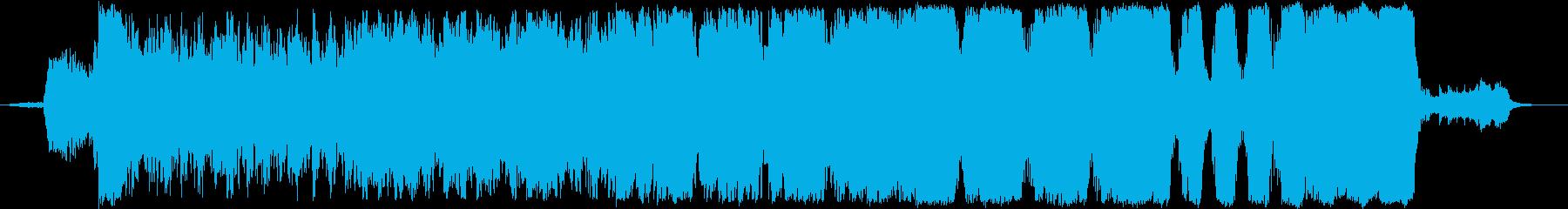 映画の予告編のような壮大でパワフルな楽曲の再生済みの波形