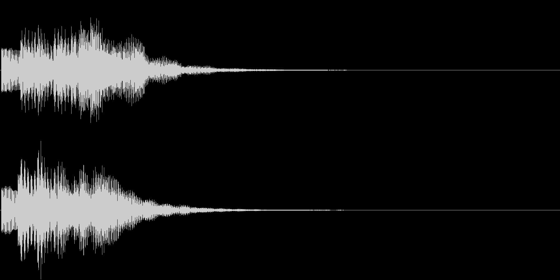 お知らせ タイトル チャイム ロゴ音7の未再生の波形