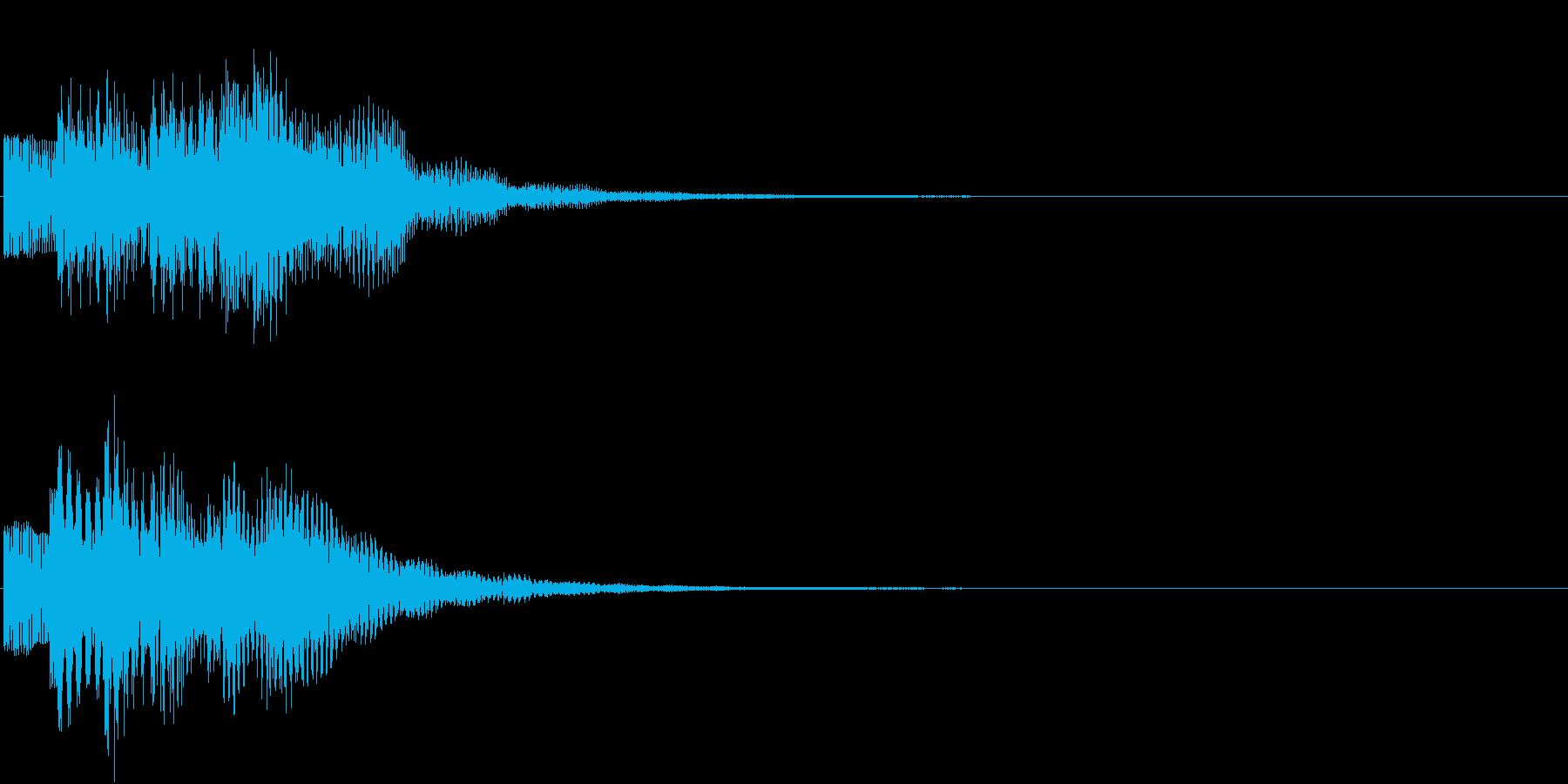お知らせ タイトル チャイム ロゴ音7の再生済みの波形