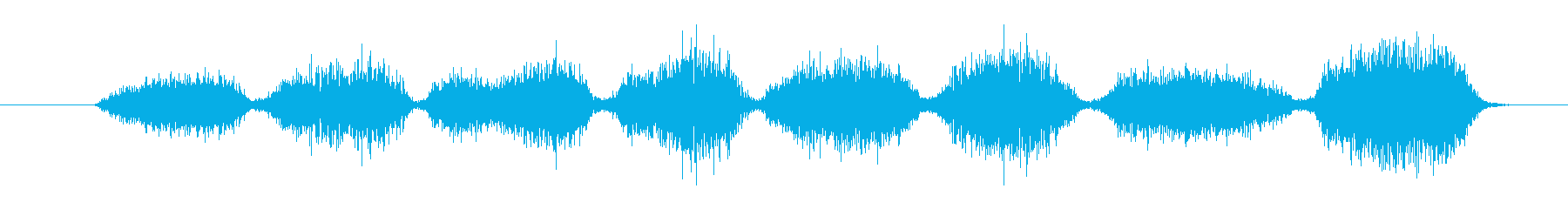 ゴシゴシ(黒板消しで字を消す、早い)の再生済みの波形