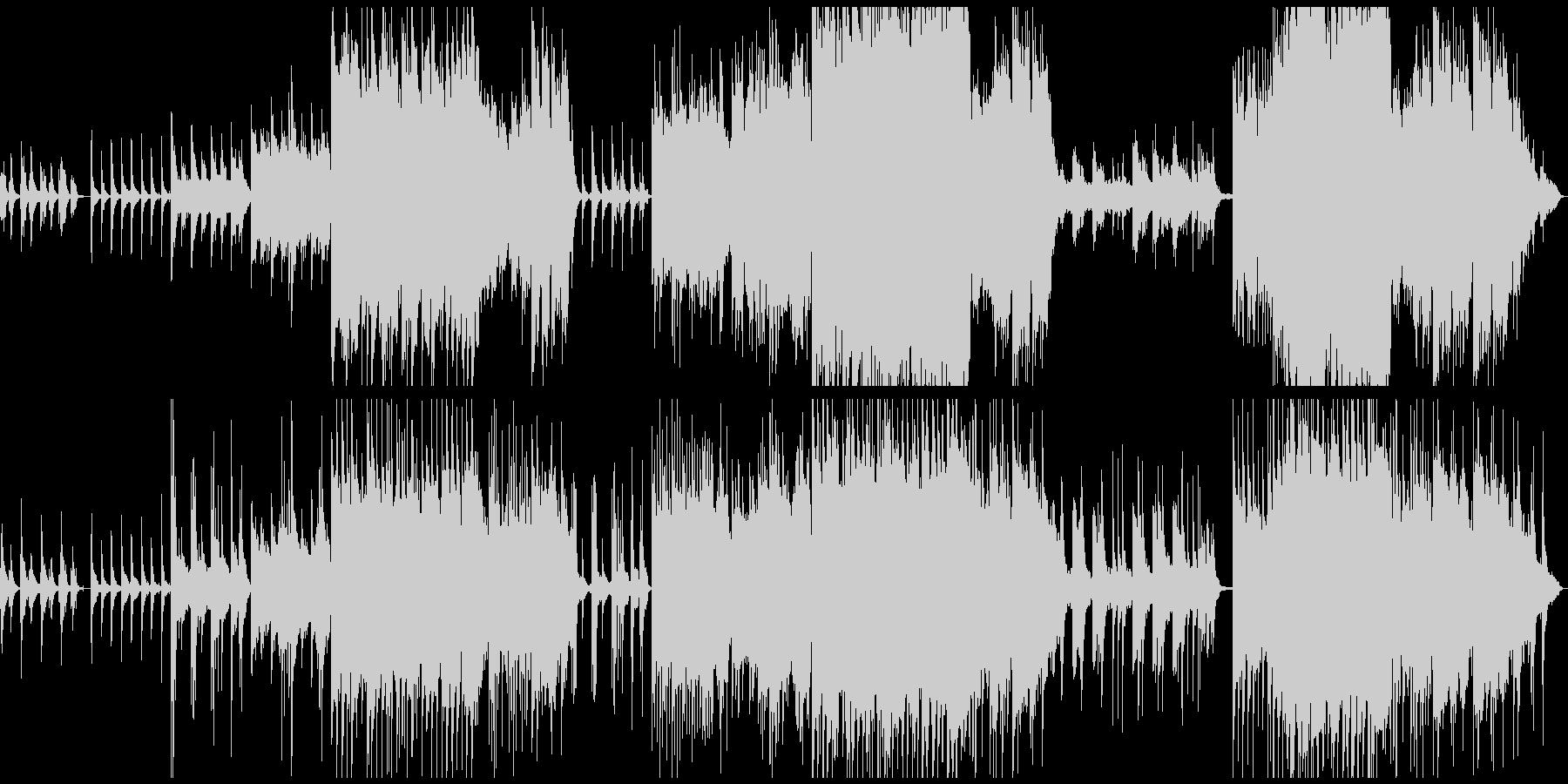 木漏れ日を感じるオーケストラバラードの未再生の波形