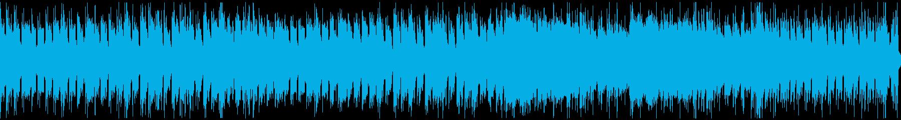 砂漠のエスニック曲(ループ)の再生済みの波形