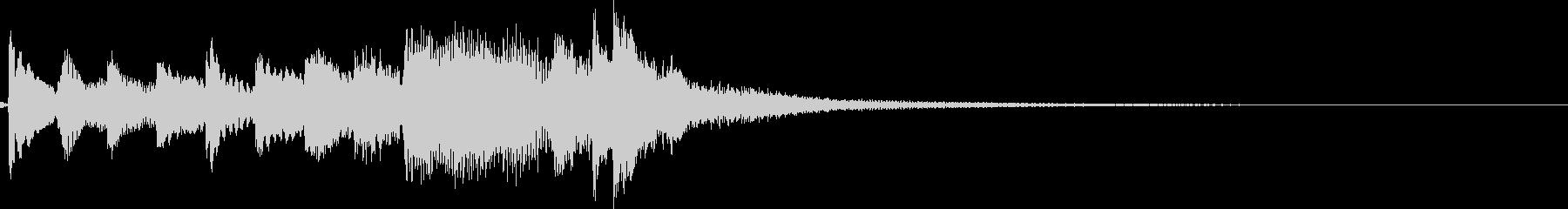 シンプルで繊細、雅な琴ジングル7秒の未再生の波形