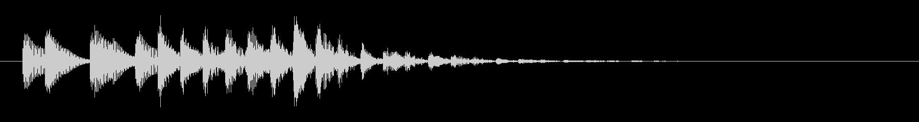 パーカッシブなシンセベースのサウンドロゴの未再生の波形