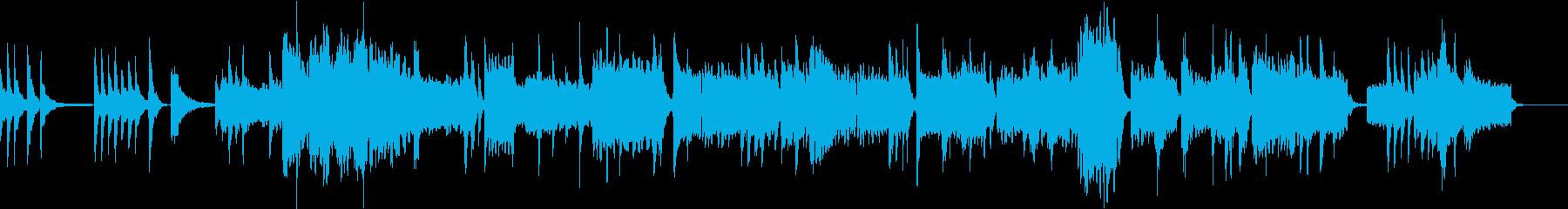 お正月のような琴と笛の曲の再生済みの波形