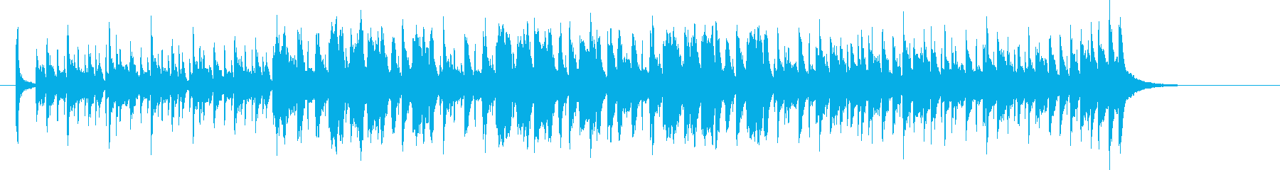 A light and pop band jingle's reproduced waveform