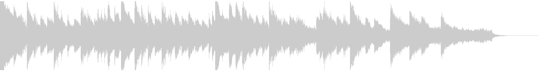 切なくノスタルジックなピアノ曲の未再生の波形