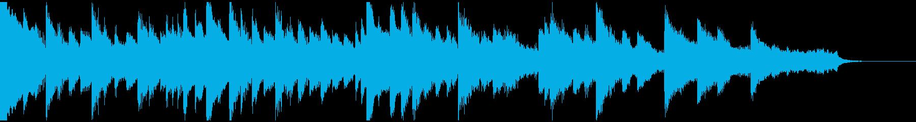 切なくノスタルジックなピアノ曲の再生済みの波形