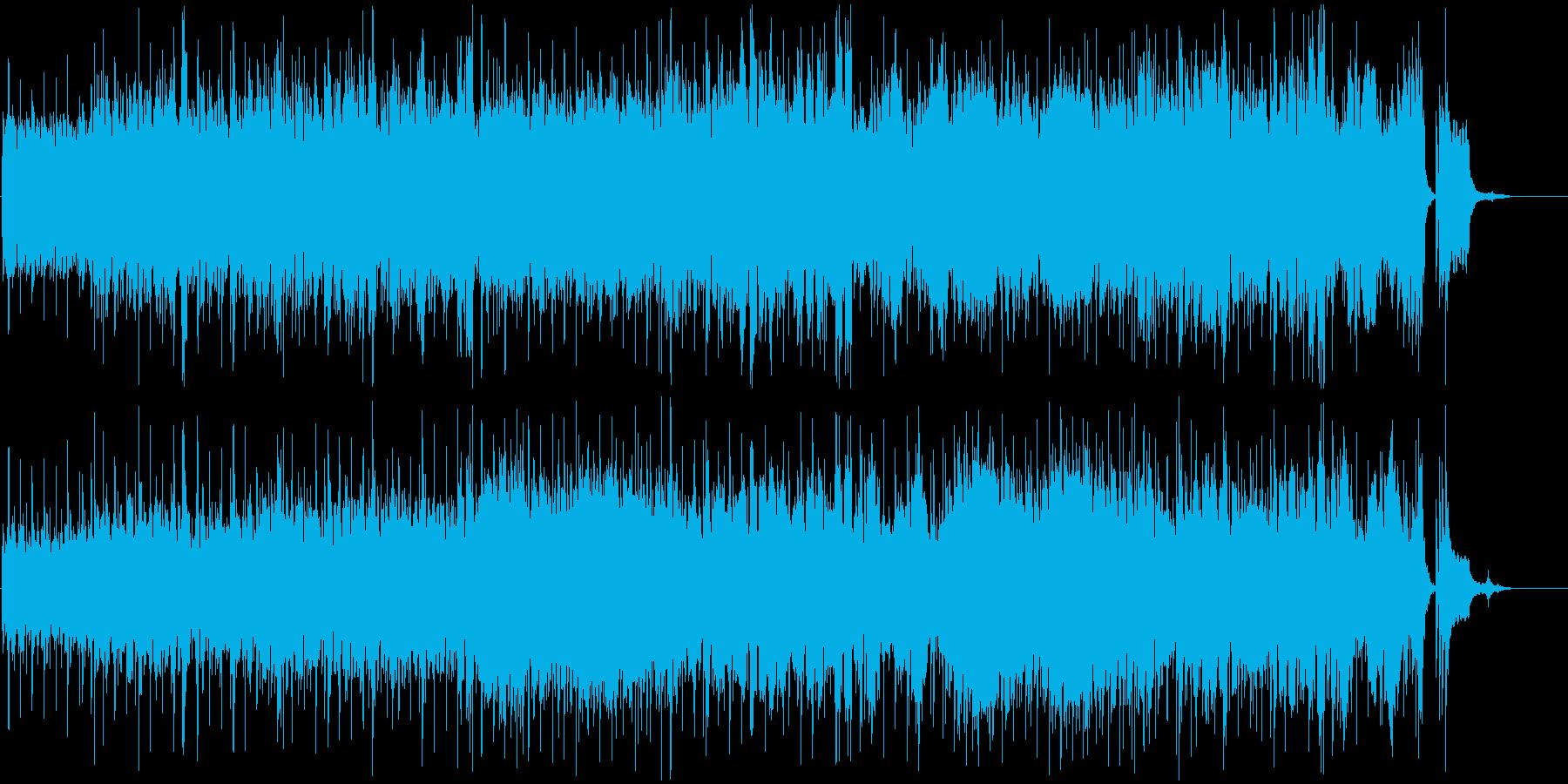 おしゃれで近未来感あるメロディーの再生済みの波形
