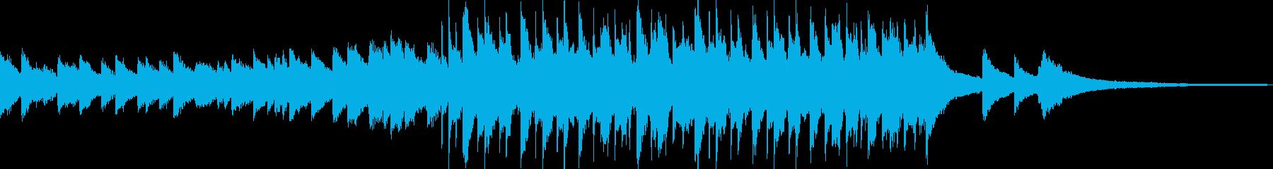 爽やかなピアノから始まるジングルの再生済みの波形